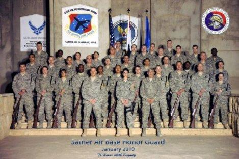 Sather Air Base Honor Guard.