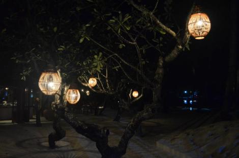 Rangali at night.
