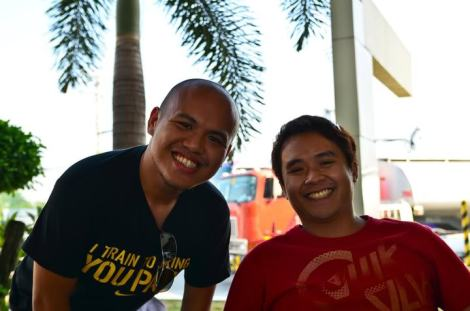 Don and Jof during our quick stop at Jollibee NLEX.