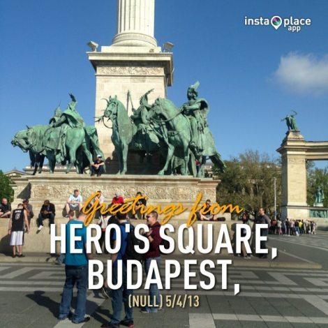 Hero's Square, Budapest, Hungary.