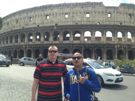 Me and Nate at the Coliseum.