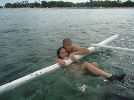 Post-snorkeling in Balicasag Island.