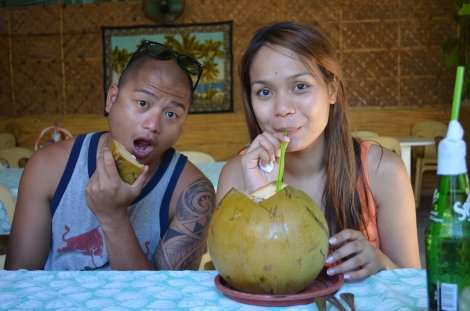 Fresh coconut during our Island Hopping.