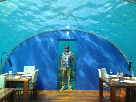 Ithaa Underwater Restaurant.