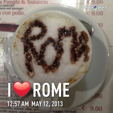 Cappuccino from our fave resto!