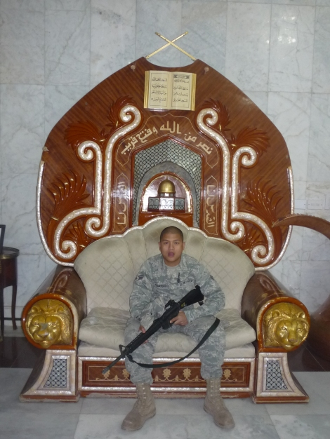 Saddam's throne.