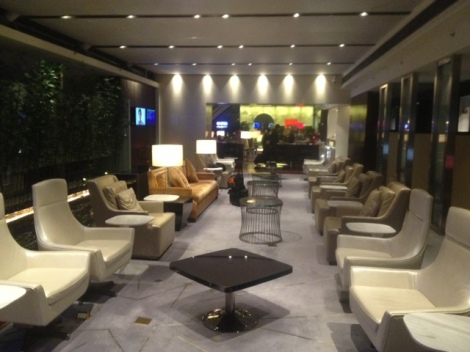 China Southern lounge in Guanghzhou.
