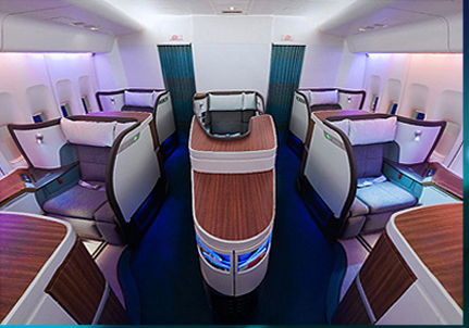 Cathay Pacific First Class Seats.
