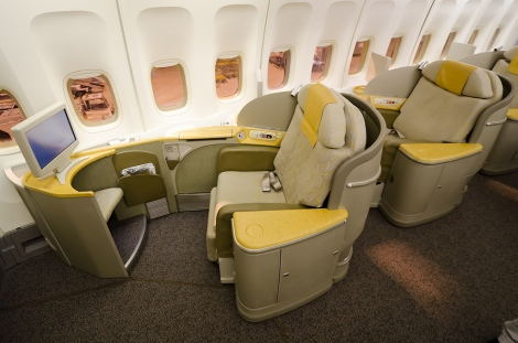Asiana First Class seats.