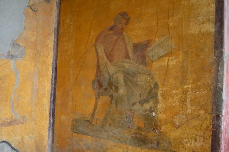 Interesting paintings on the walls of a brothel.