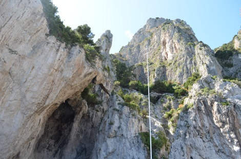 Amazing rock formations in Capri.