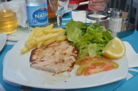 Quick meal in Capri