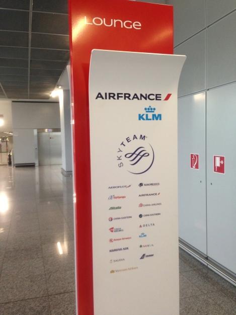 Frankfurt Terminal 2 Air France Lounge.