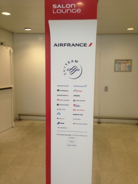 CDG Air France lounge.