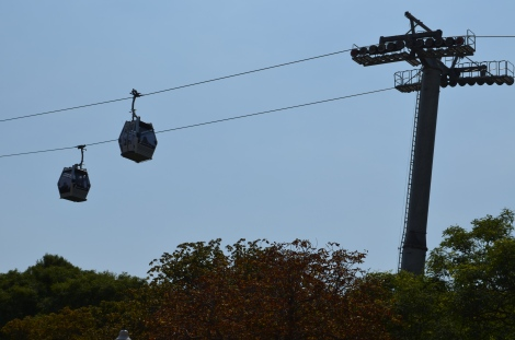 Cable cars were available to get amazing views of the city.
