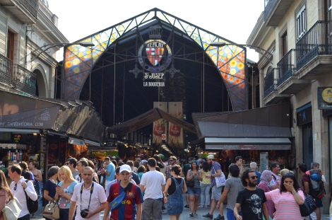 Entrance to the Boqueria Barcelona Market.
