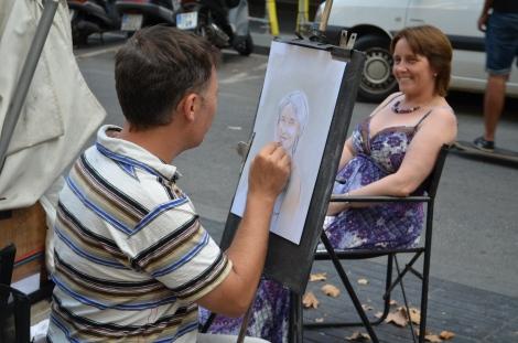 Las Ramblas Artist.