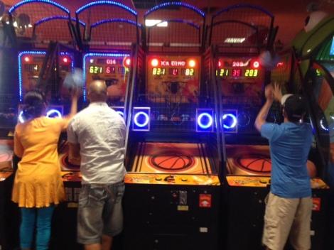Basketball at the mall.