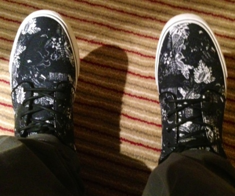 Black Floral Janoskis: These shoes will always remind me of this amazing trip.