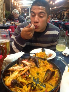 Paella: It's so good, you just have to close your eyes.