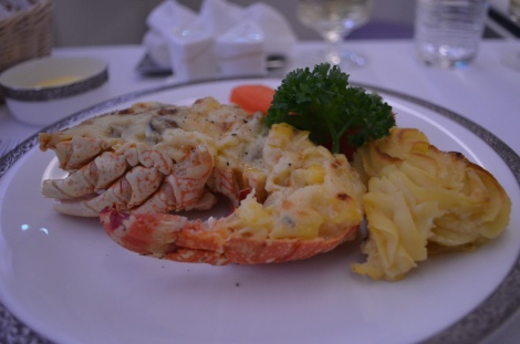 Lobster Thermidor. Heaven.