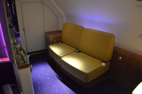 First Class lounge area.