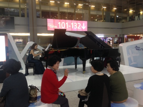 Musical performances throughout the airport.