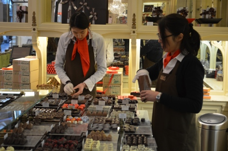Chocolate shopping!