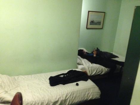 No frills hotel.