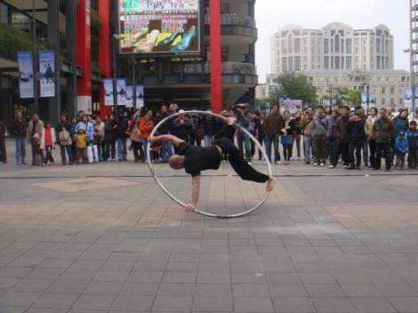 And this uber cool street performer.