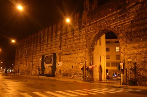 Empty streets on a Sunday night.