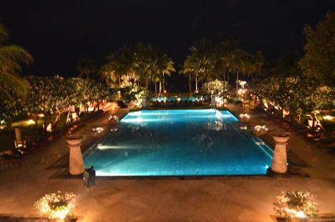 Impressive pool area.