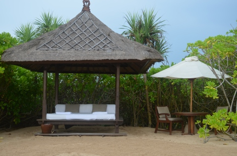 Private hut.