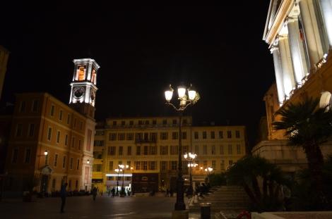Old Town Nice at night.