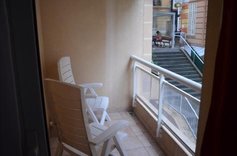 Balcony area.