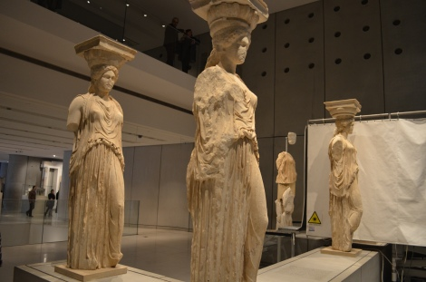 The original Caryatid from the Acropolis being restored!