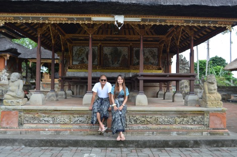 We had to wear sarongs to enter the temples.