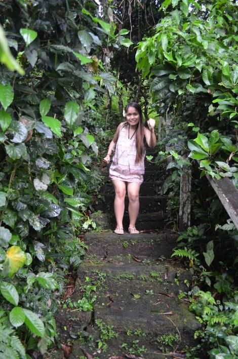 Exploring the resort.