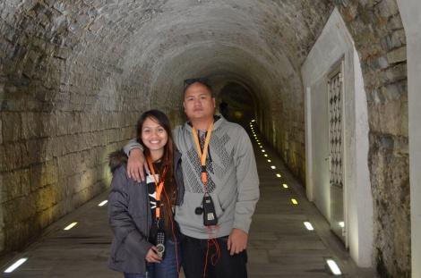 Tunnel to the stadium.