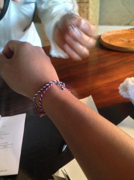 Hindu bracelets.