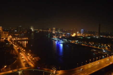 Amazing view of the Nile River from my room.