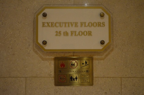 Upgraded to the Executive floor!