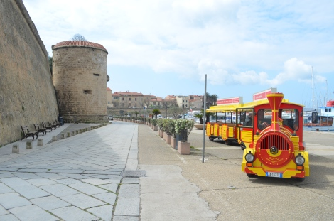 We took the mini train for a tour of old-town Alghero.