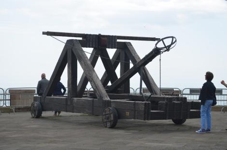 Old-school catapult.