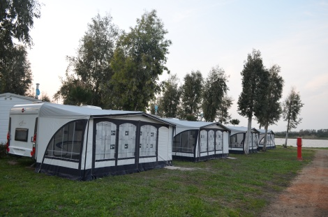 Our mobile homes at the camping village.