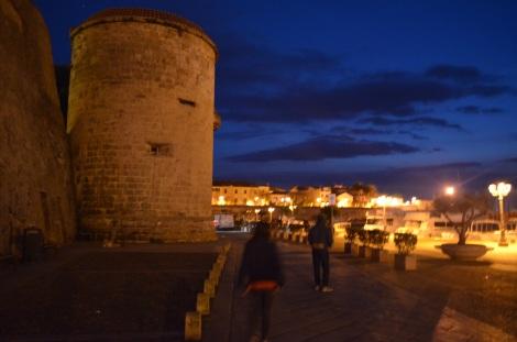 Alghero at night.