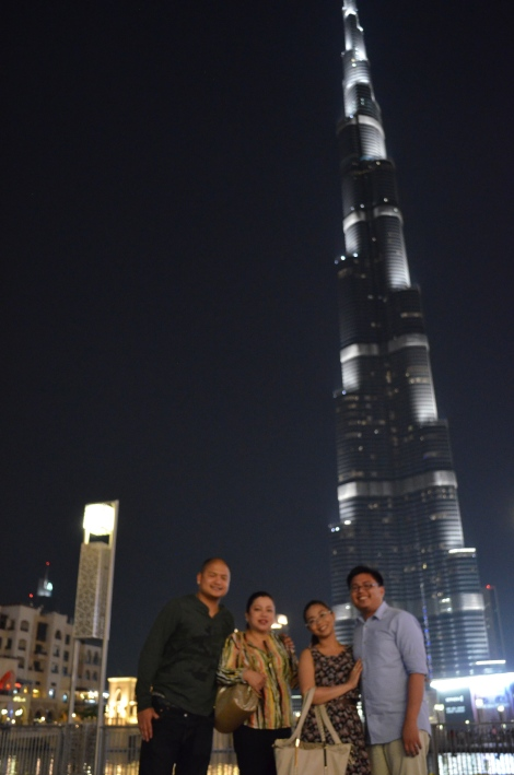 Burj Khalifa with family.