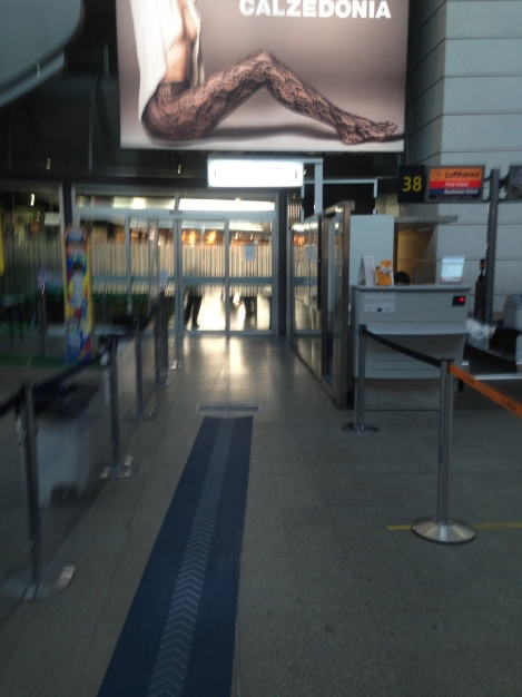 Business Class security entrance at VCE.