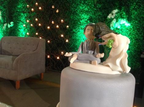 Awesome wedding cake.