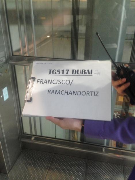 Thai representative escorted me to my next flight.